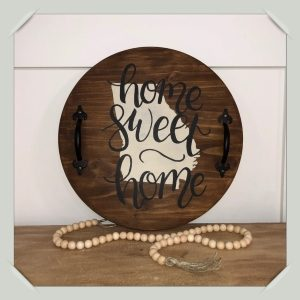 18″ Round Home Sweet Home with Handles