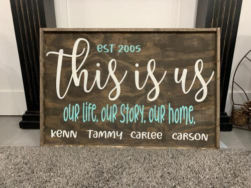 24x36 $69 This is Us-names