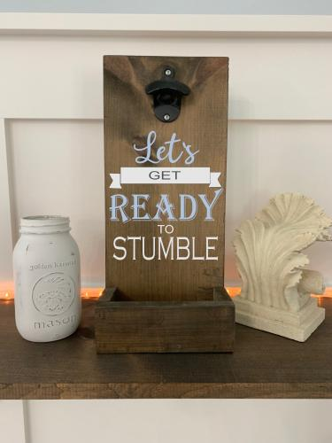 8X18 $45 bottle opener STUMBLE