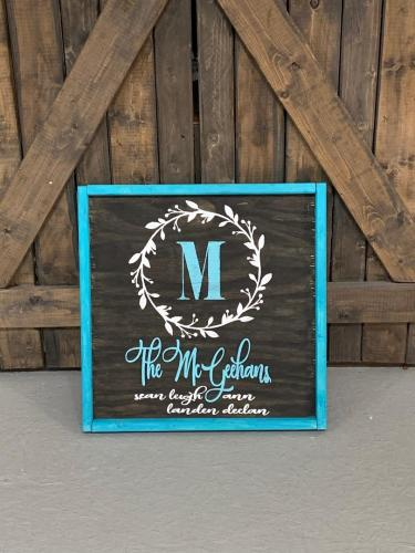 12x12 $40 sm wreath/name